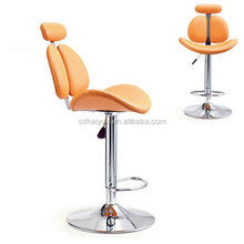 Best selling orange PU Leather bar chair / bar stools with very high quality