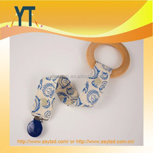 AAA+ Quanlity Customized Dummy Clip Fabric/baby pacifier clip holder/pacifier clip/Baby toy holder