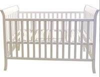Factory supply wooden baby swing cot dimensions