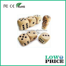 Hot Sale Free Sample dice wooden usb flash drive 16gb for Promotional Gift wooden usb 32gb