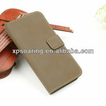 For iphone 5G 5S wallet leather case pouch, credit card stand case for iphone 5S