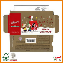 Glossy varnishing Christmas cake packaging
