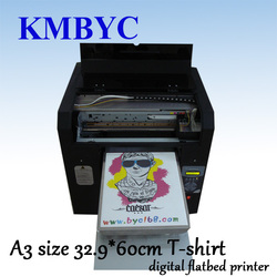 6 colors textile T shirt printing machine with professional design