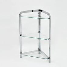 Bathroom Corner Stand 3 Tier Glass Shelf