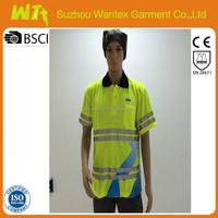 2015 alibaba wholiesale bulk Safety 100 % cotton mesh short sleeves work T-shirts