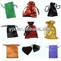 cheap mini satin drawstring pouch for gift
