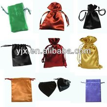 cheap mini satin drawstring pouch for gift