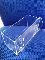 Clear plastic acrylic brochure snacks display box hanging holder