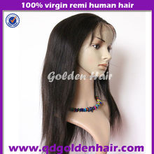 Quality Guaranteed Chinese Virgin Hair Soft Yaki Straight Lace Front Wigs