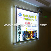 Indoor Single Sided Double Sided Acrylic Led Lighted Display Poster Frame