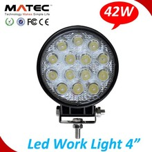 High Quality 42w Round Driving Lamp Led Work Light 4wd