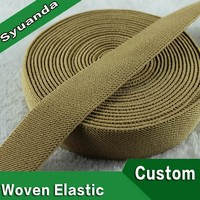 38mm Colored Custom Texture Polyester Rubber Woven Twill Elastic Band