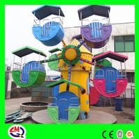 Kiddie attractive outdoor playground small ferris wheel for sale