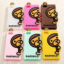 Newest 3D cartoon monster Animal cute Japan nipple monkey case cover shell skin For iphone 5 5g For iphone 5s 6 6s