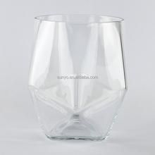 Popular manufacture polygon shaped shot glass sodalime handblown high quality