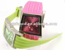 Gracious Square Watch Silicone for Lovers