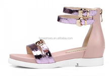 2015 summer new European style fashion hollow out thick heels woman sandal
