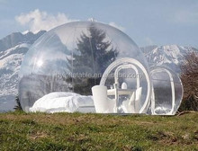 2015 Hot selling attractive inflatable transparent pods, inflatable clear pods