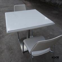 artificiale quarzo composito piano del tavolo da pranzo e base in acciaio inox