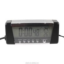 Auto Clock Digital Car Clocks Indoor Outdoor Thermometer Temperature Backlight