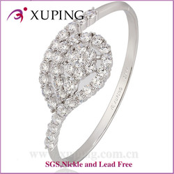 Attractive price new type rhodium color charm bangle