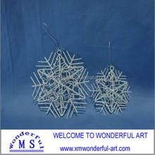cheap metal christmas snowflake/christmas ornament for sale