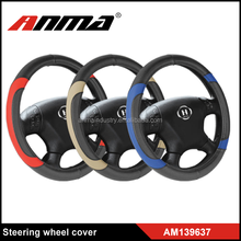 Hot sale leather car steering wheel cover, accept custom design
