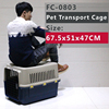 Folding Pet Dog Cat Crate Cage Kennel With Plastic crate tray