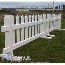 pvc temporary picket fence/sharp picket cap