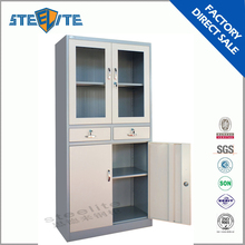 China made Cheap and high quality KD glass door locker used medical cabinets/ office file cabinets