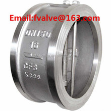 double disc stainless steel duo wafer check valve