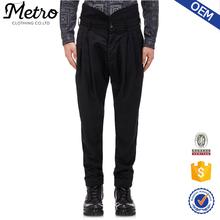 2015 OEM Custom Made New Fashion Black Twill High Waist Trousers