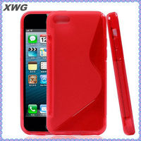 TPU Cover Wave Soft Gel S-Line Curve Hybrid Clear case for iphone 5c