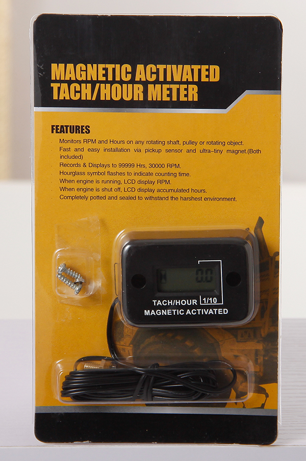 Diesel Engine Hour Meter : Digital waterproof magnetic activated tach hour meter
