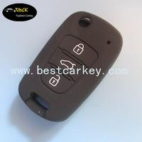 High quality 3 button silicone rubber car key covers for hyundai key hyundai remote key case