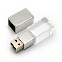 custom 3D logo crystal flash drive , usb 2.0 drive , usb flash drive 8gb