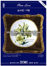 Beautiful flower cross-stitch hand embroidery design patterns creative pillow case