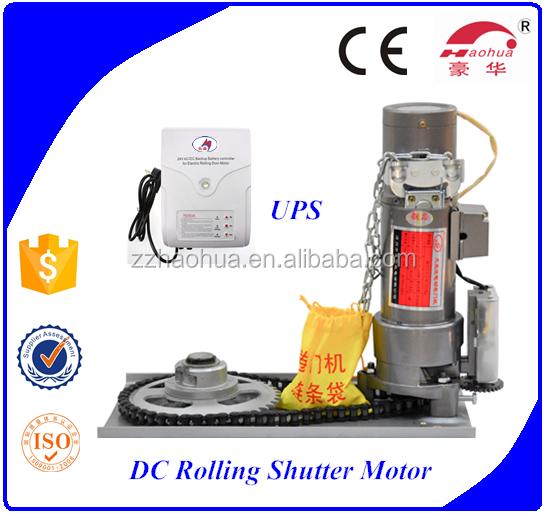Backup Battery Dc24v 500kg Rolling Shutter Door Motor