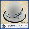 Moda 2013 100% de fieltro de lana cloche forma sombreros para damas