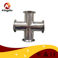 Sanitary pipe fitting stainless steel sanitary DIN clamp cross