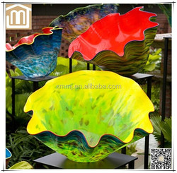 Modern wholesale Hand blown murano glass art decor large pots and vases