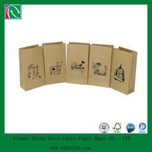 custom printed brown kraft paper grocery bag