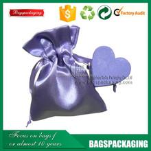 custom silk screen printed small satin gift bags