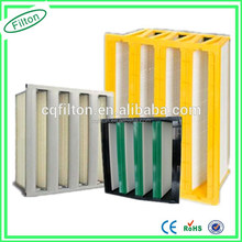 Space Saving Large Media Area FED V-Bank Air Filter for Ventilation Systems