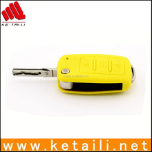 Wholesale yellow silicone car key cover for car keys