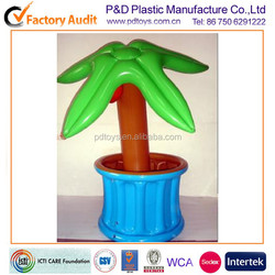 palm tree shape PVC Inflatable Ice Bucket For Beer