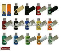 top selling swivel plastic usb flash drive bulk 1gb/2gb/4gb/8gb16gb/32gb//64gb usb