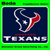 6x8inch polyester houston texans hand flag with wooden pole