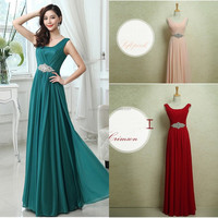 Hot Sale Sexy Long Evening Dresses Real Images Royal Blue Beaded Sweetheart Strap A-Line Evening Gown Chiffon Party Dress ZH089