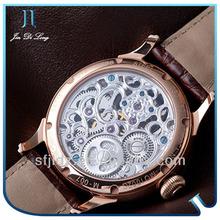 Men luxury watch diamond dial leather bracelet watches for men